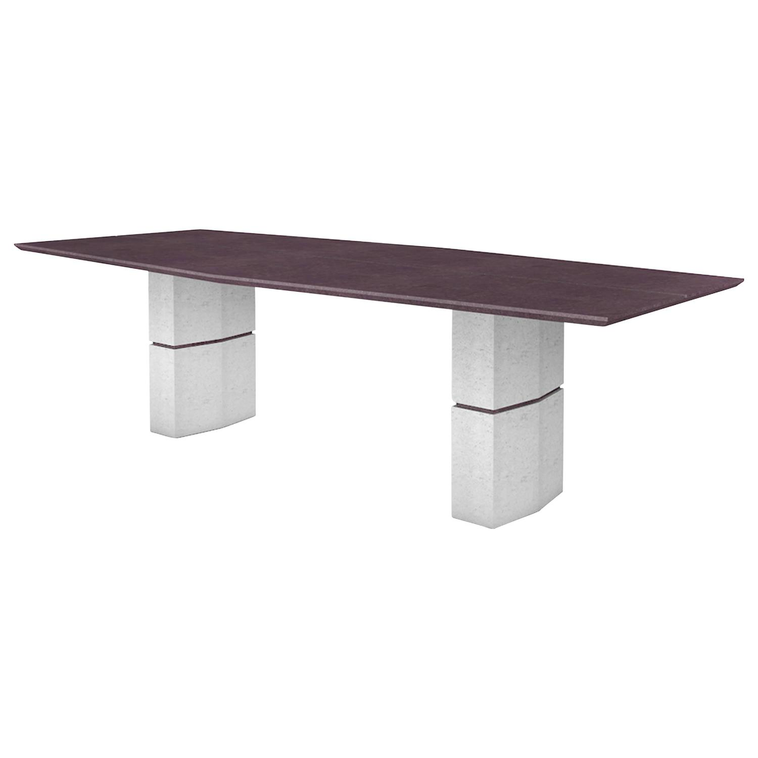 fr d ric saulou unique dining table in purple slate for