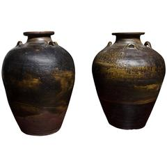 Early 18th Century Thai Glazed Terra Cotta Water Vessel