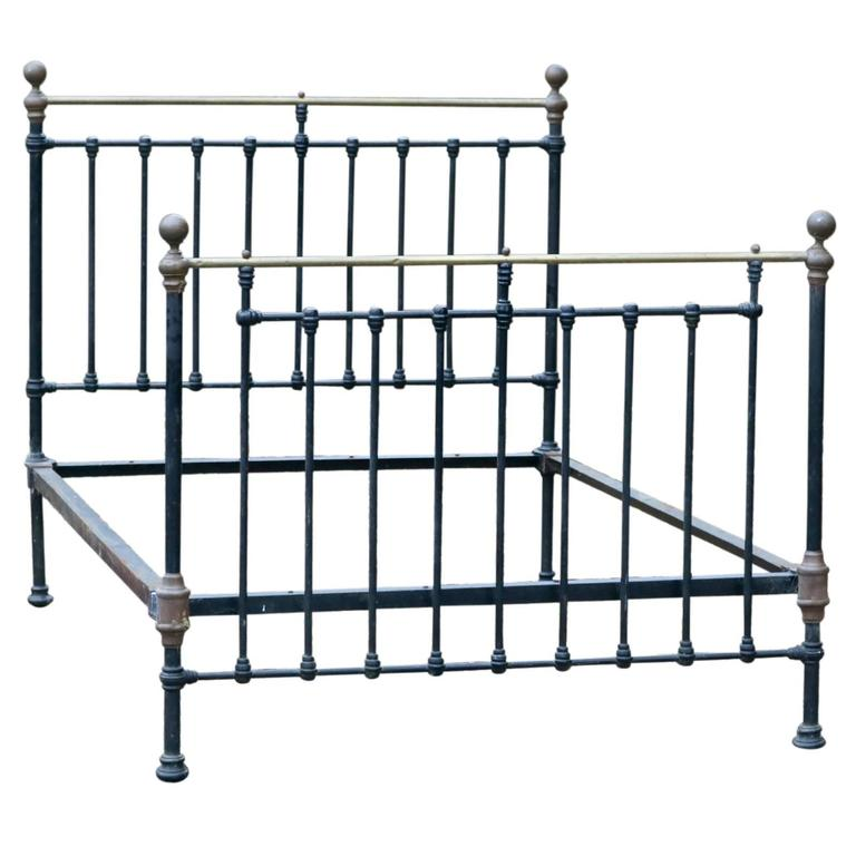 Original Victorian Brass Beds : Victorian brass and iron bed at stdibs