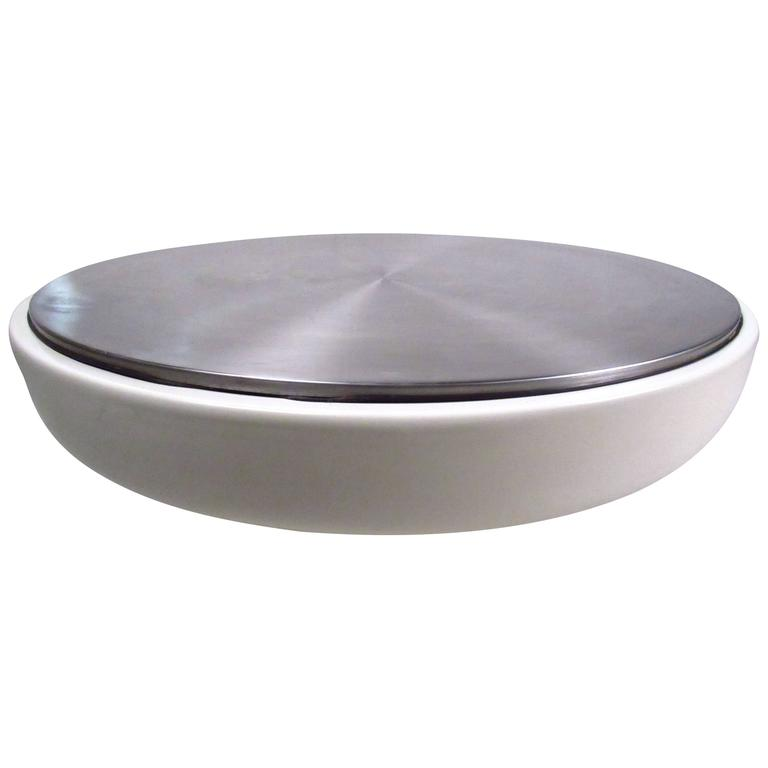 Modern Aluminum Top Coffee Table