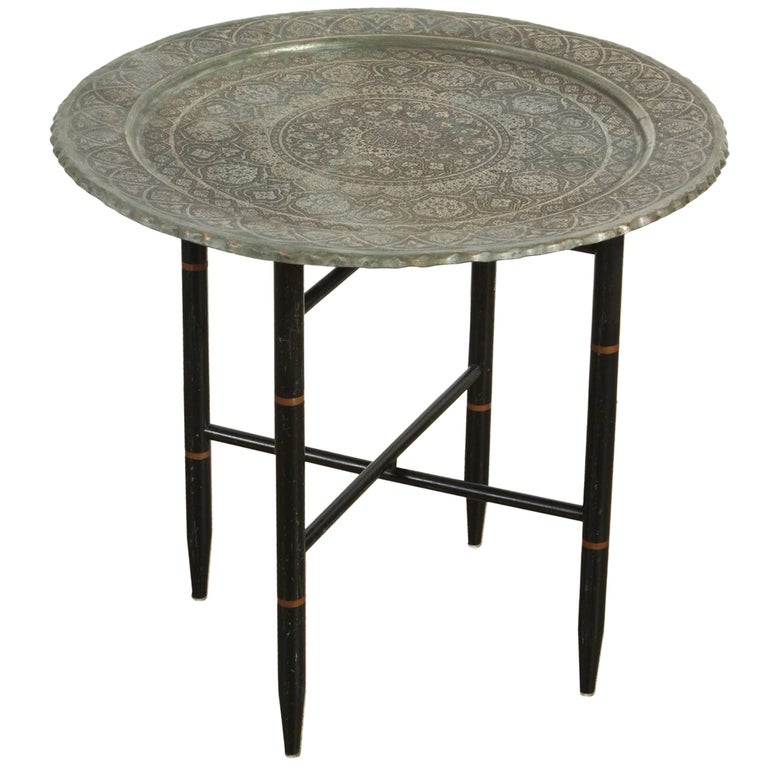 Persian Copper Tray Side Table