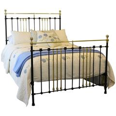 Brass and Iron Bed Finished in Black
