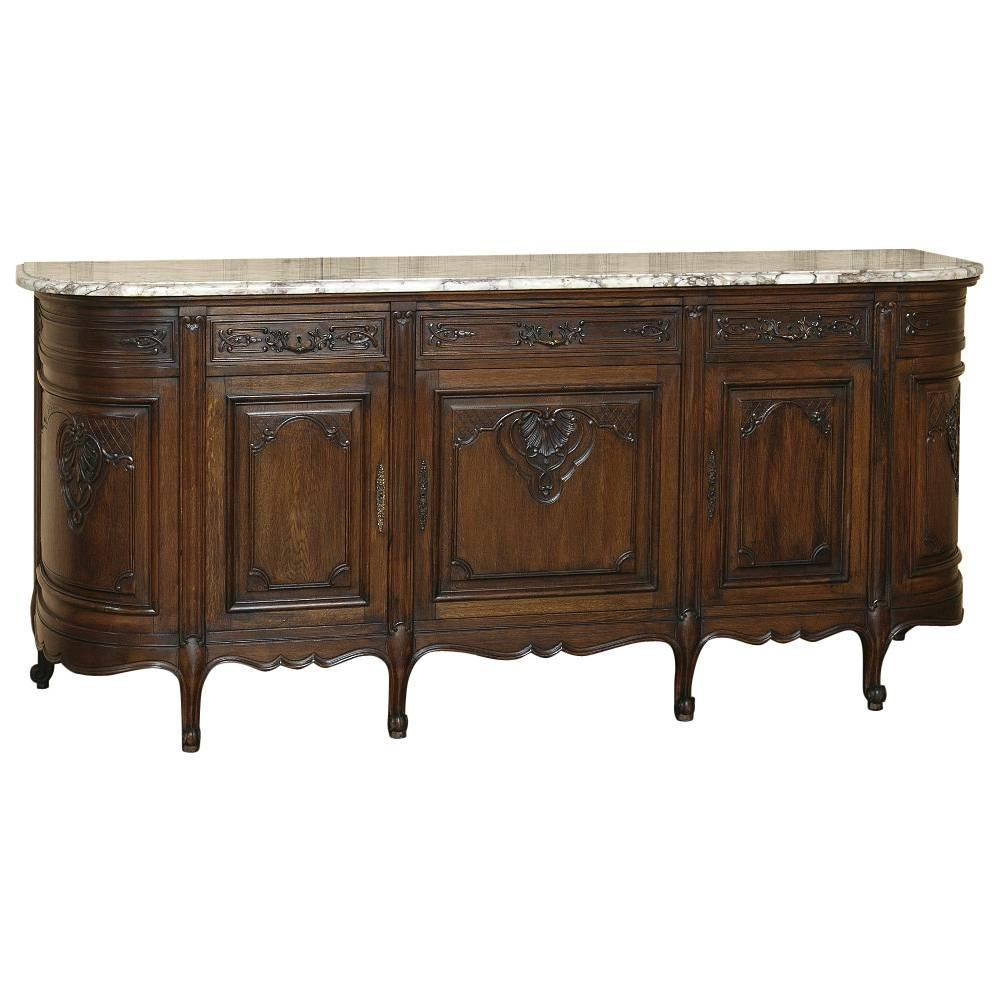 Marble Top Buffet ~ Country french walnut marble top buffet at stdibs