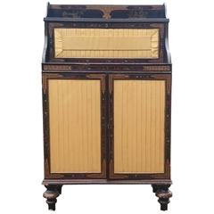 Antique Chinoiserie Lacquered Cabinet Chiffonier