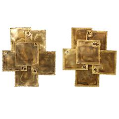 Matched Pair of Large Sconces by Svend Aage for Holm Sorensen