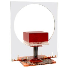 Huge Lamp in Lucite, Italy, 1970