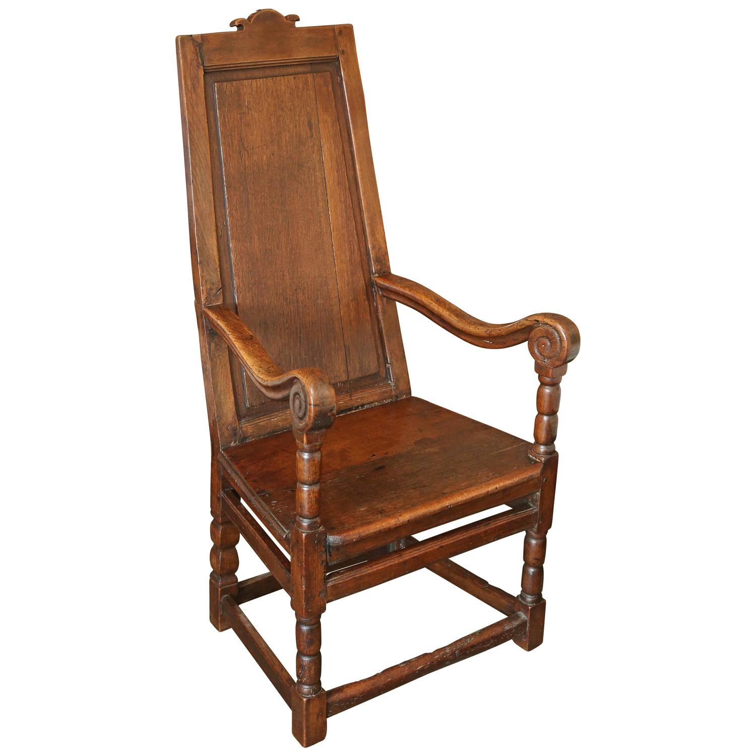 18th Century Oak Welsh Wainscot Hall Chair
