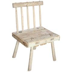 19th Century Primitive Hedge Row Folk Art Stick Chair