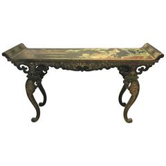 Chinese Lacquer Alter Table