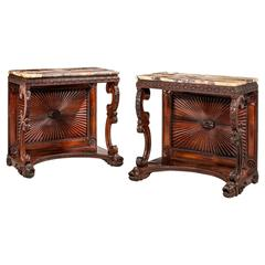 Pair of Regency Rosewood Pier Tables