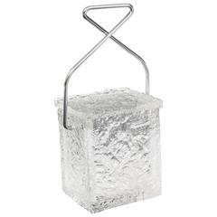"""""""Block of Ice with Tongs"""" Lucite Ice Bucket"""
