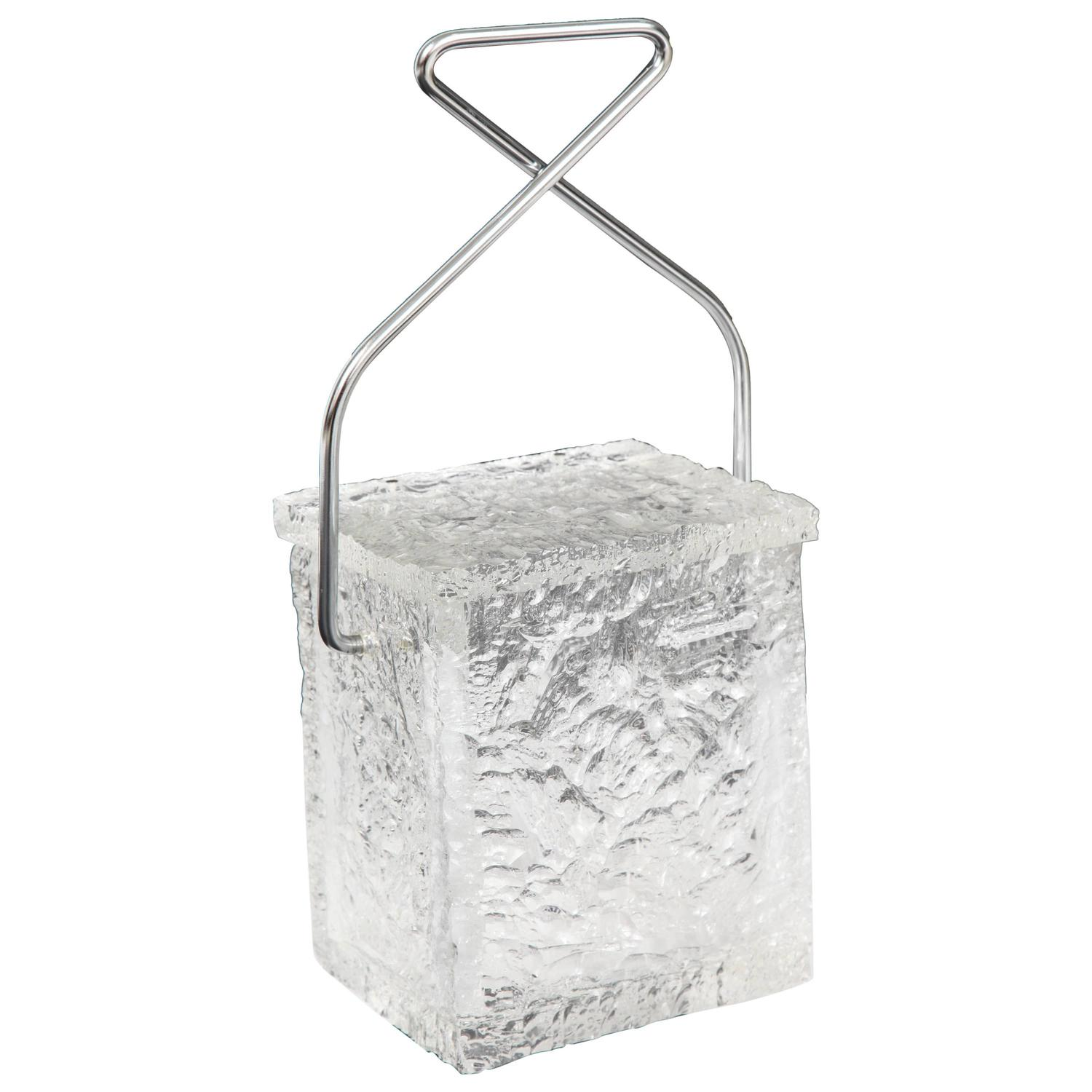 Block Of Ice With Tongs