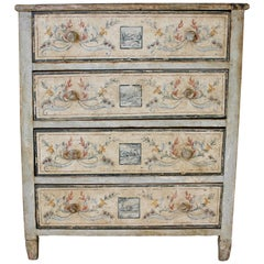 Italian 1790s Neoclassical Period Painted Commode with Pompeian Style Décor