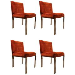 Four Milo Baughman Dining Chairs