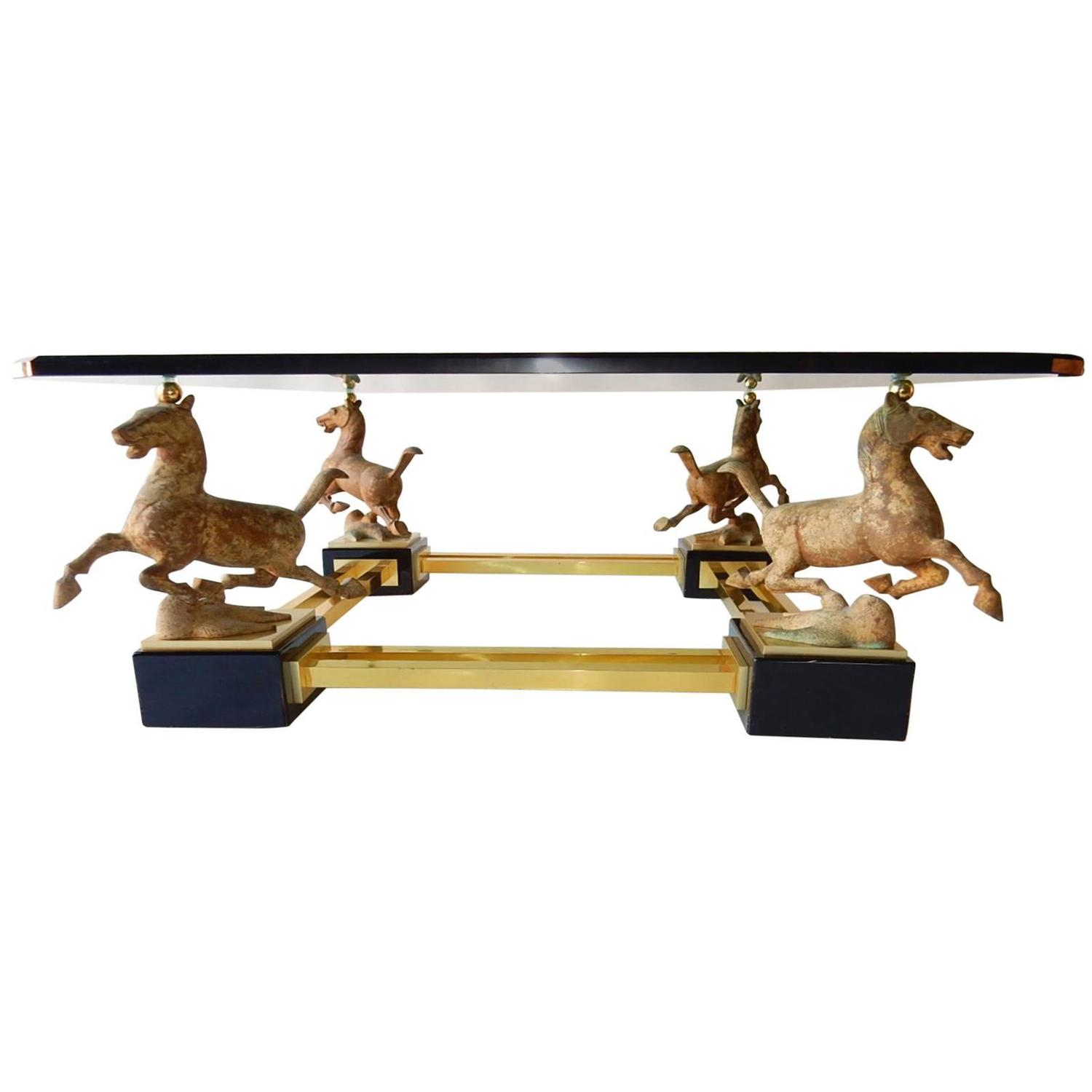Horse coffee table rascalartsnyc chinese bronze flying horse of gansu coffee table french maison geotapseo Images