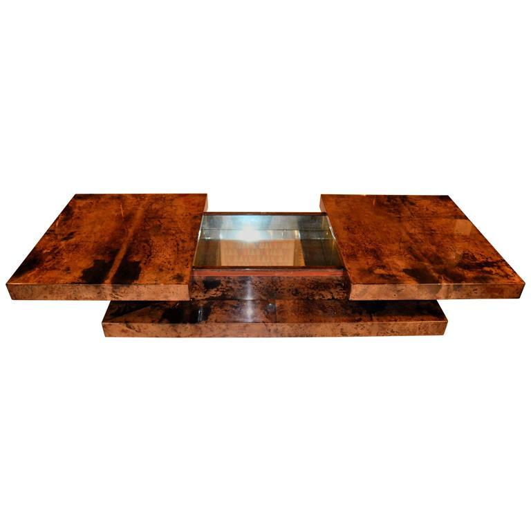 1970s goatskin bar coffee table by aldo tura at 1stdibs