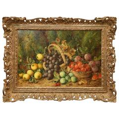 George Clare Still Life with Fruit Painting