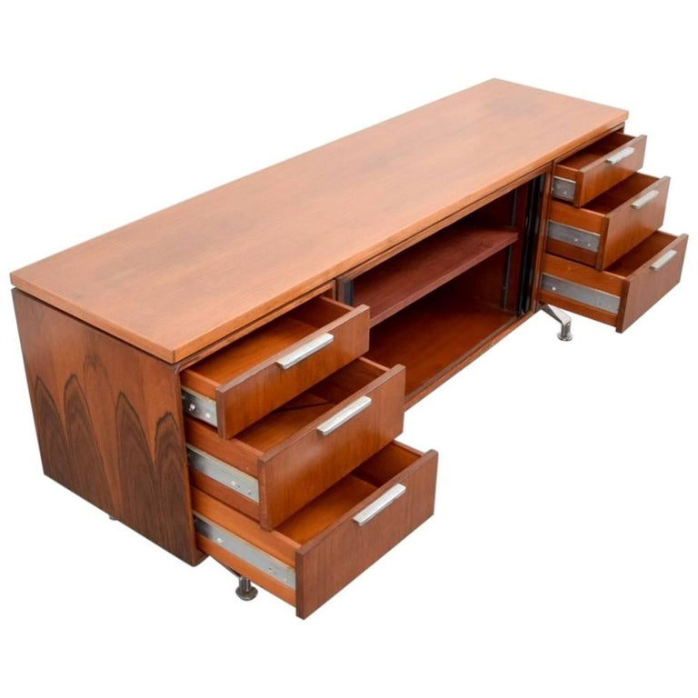 Imperial Desk Company Rosewood Credenza, 1960s, USA For Sale