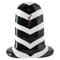 Fantasmiko Table Clock Special Edition Black Stripes Designed by Jaime Hayon