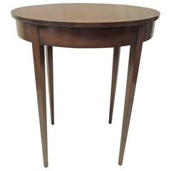 Vintage Oval Wood Side Table with Square Tapered Legs
