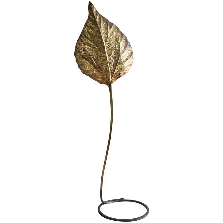 Tommaso Barbi Leaf-Shaped Floor Lamp