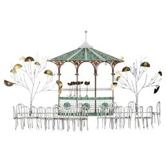 """Curtis Jere """"Bandstand"""" Wall Sculpture Signed and Dated"""