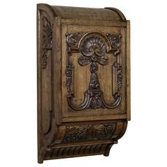 19th Century Country French Baroque Wall Cabinet