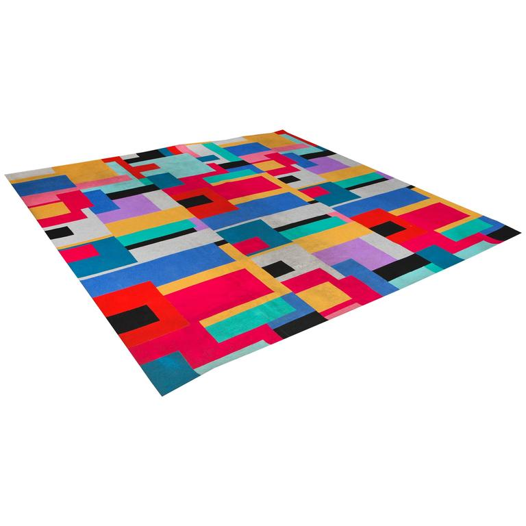 Custom Design Abstract Rug For Sale At 1stdibs