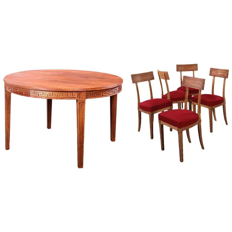 j m frank et a chanaux dining room set of round table