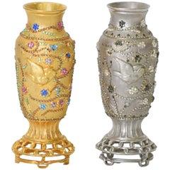 Rare Judith Leiber Asian Holiday Vases
