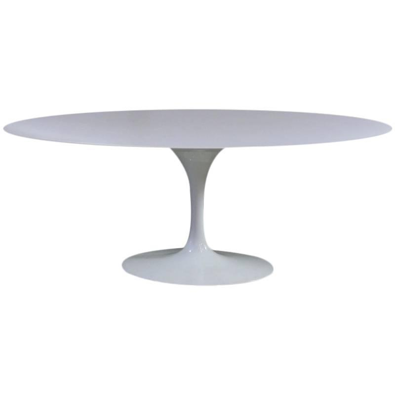 oval saarinen dining table knoll 198 cm for sale at 1stdibs
