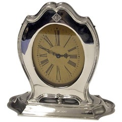 American Art Deco Sterling Clock, Reed & Barton, circa 1920