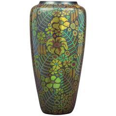 """Hungarian Ceramic """"Eosin-Glazed"""" Vase by Zsolnay, circa 1910"""