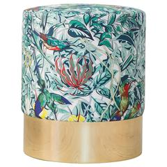 Azucena Stool in Hermès Silk Textile