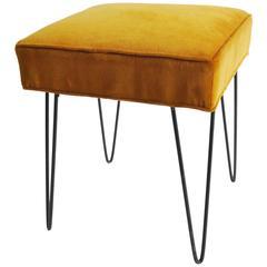 1960s American Hairpin Leg Bench