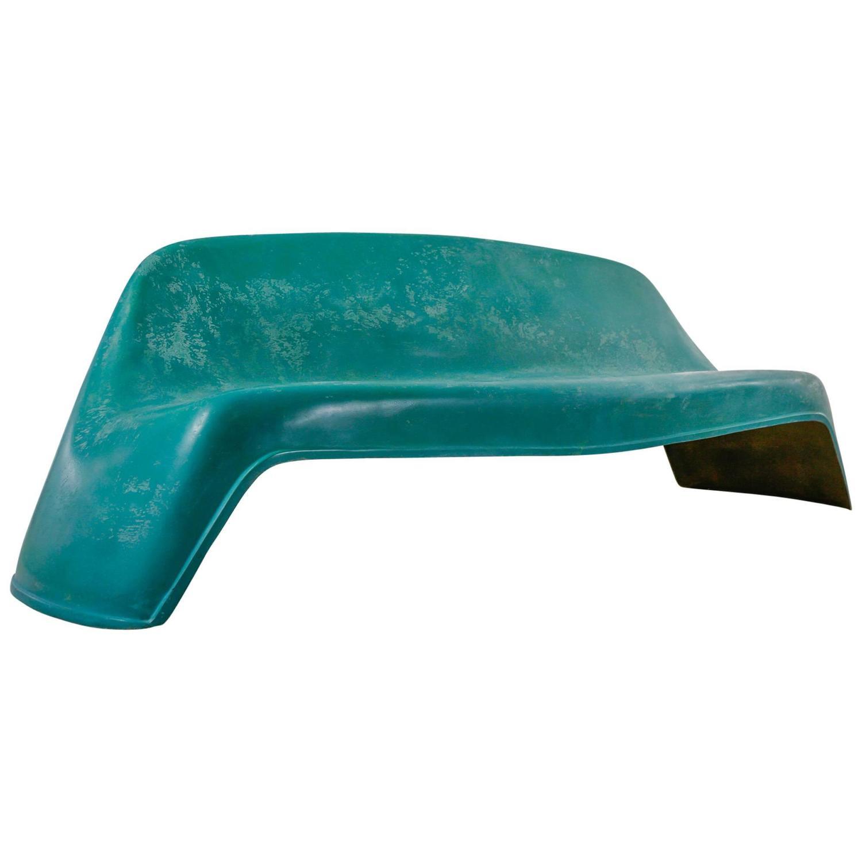 Fiberglass Garden Bench : Walter papst fiberglass outdoor pool or garden bench
