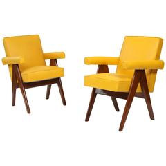 Pair of Armchairs by Pierre JEANNERET (1896-1967)