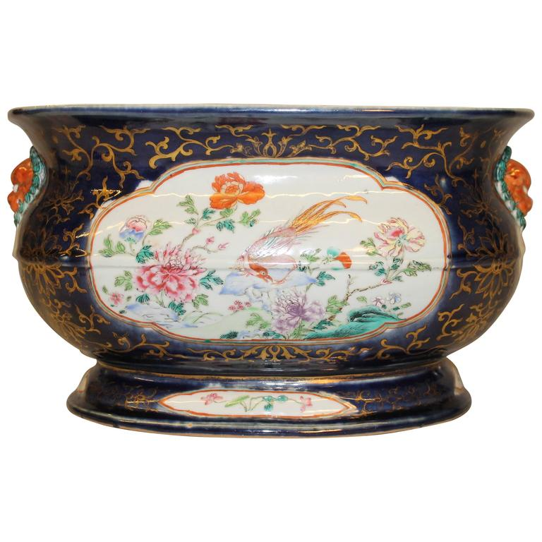 A Chinese Porcelain Famille Rose Jardini 232 Re Or Fish Bowl