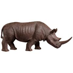 Late 20th Century Cold Cast Bronze and Resin Rhinoceros