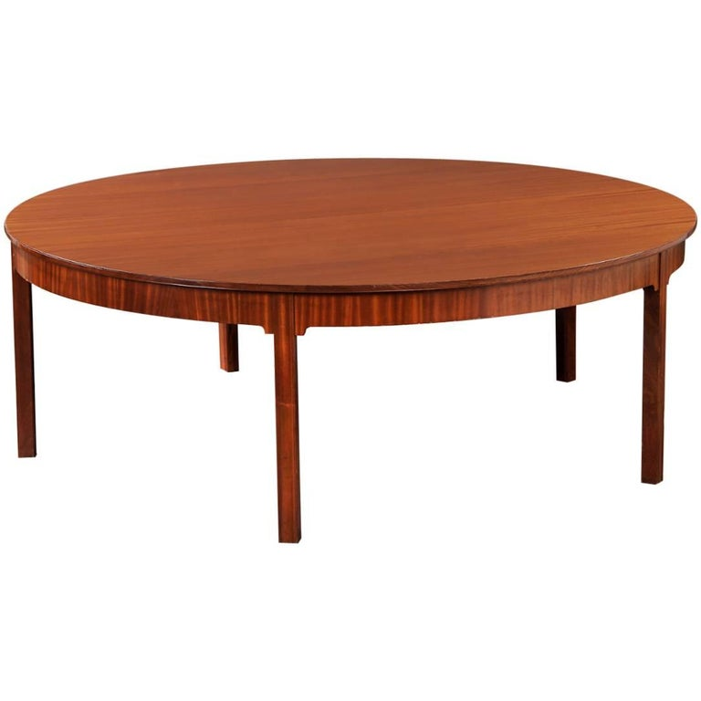 Dramatic 1930s Mahogany Dining Table by Kaare Klint For Sale