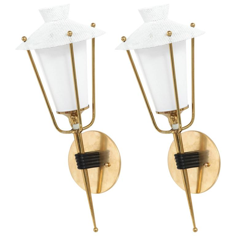 Pair of French Sconces in the Style of Mathieu Matégot