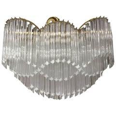 Monumental Murano Glass Rare Shaped Pendant Chandelier