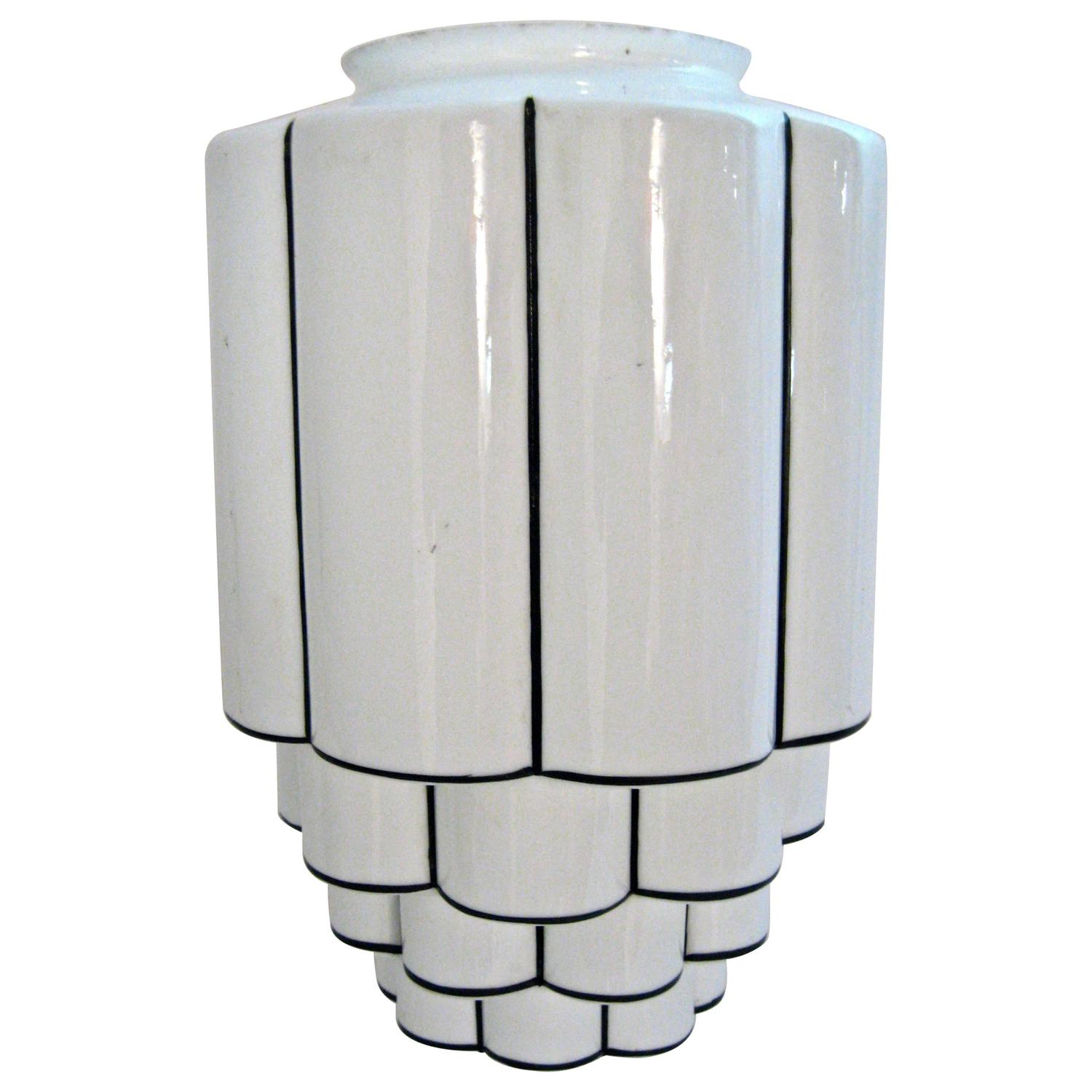 art deco skyscraper canopy lamp shade for sale at 1stdibs. Black Bedroom Furniture Sets. Home Design Ideas