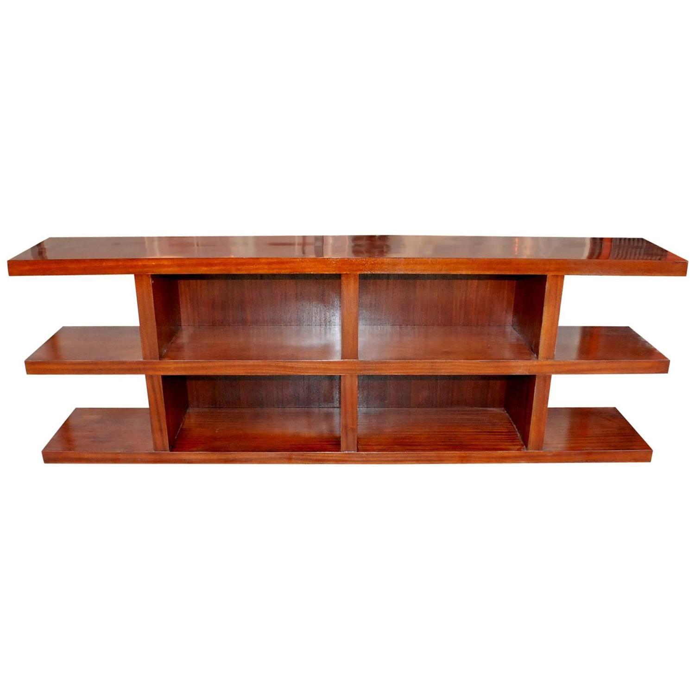 Elegant Modern Open Shelf Credenza At 1stdibs