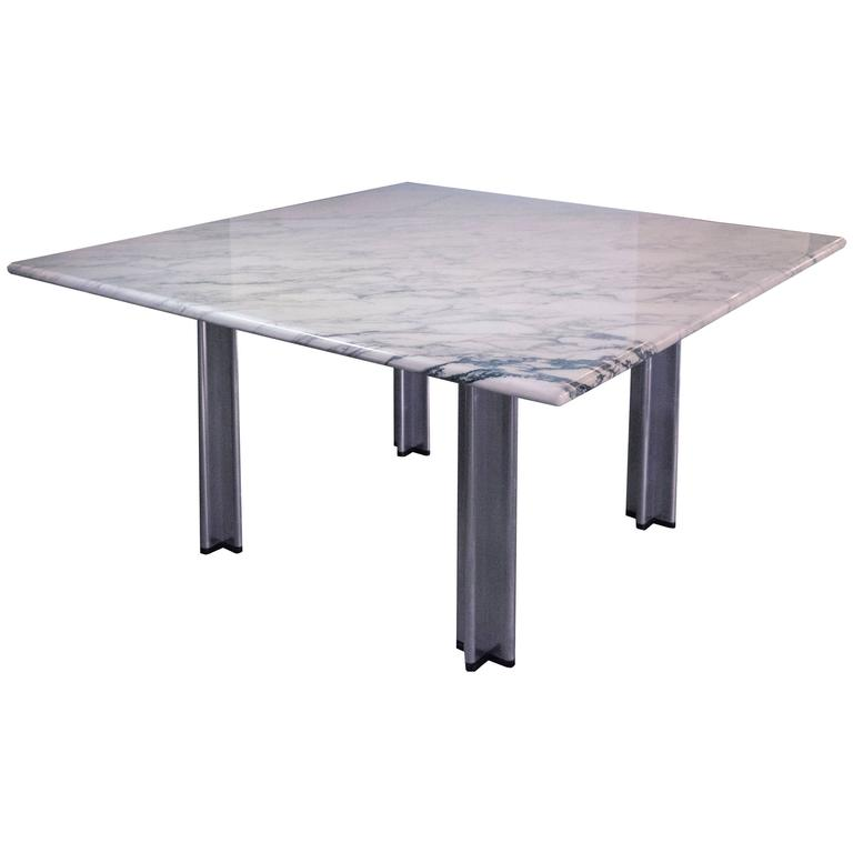 Square Pascal Dining Or Conference Table With Carrara
