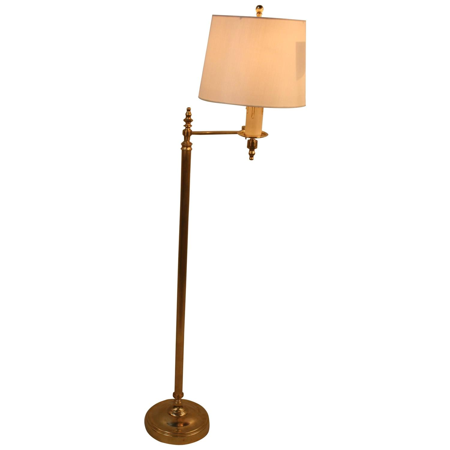 French Bronze Adjustable Floor Lamp at 1stdibs