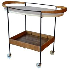 Oval Bar Cart by Arthur Umanoff, 1950s