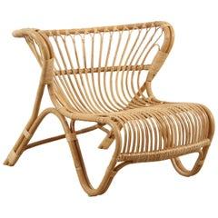 Natural Rattan Fox Chair by Viggo Boesen