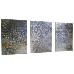 Abstract Triptych by Gabriel Rivera