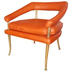 William Billy Haines Occasional Leather Chair